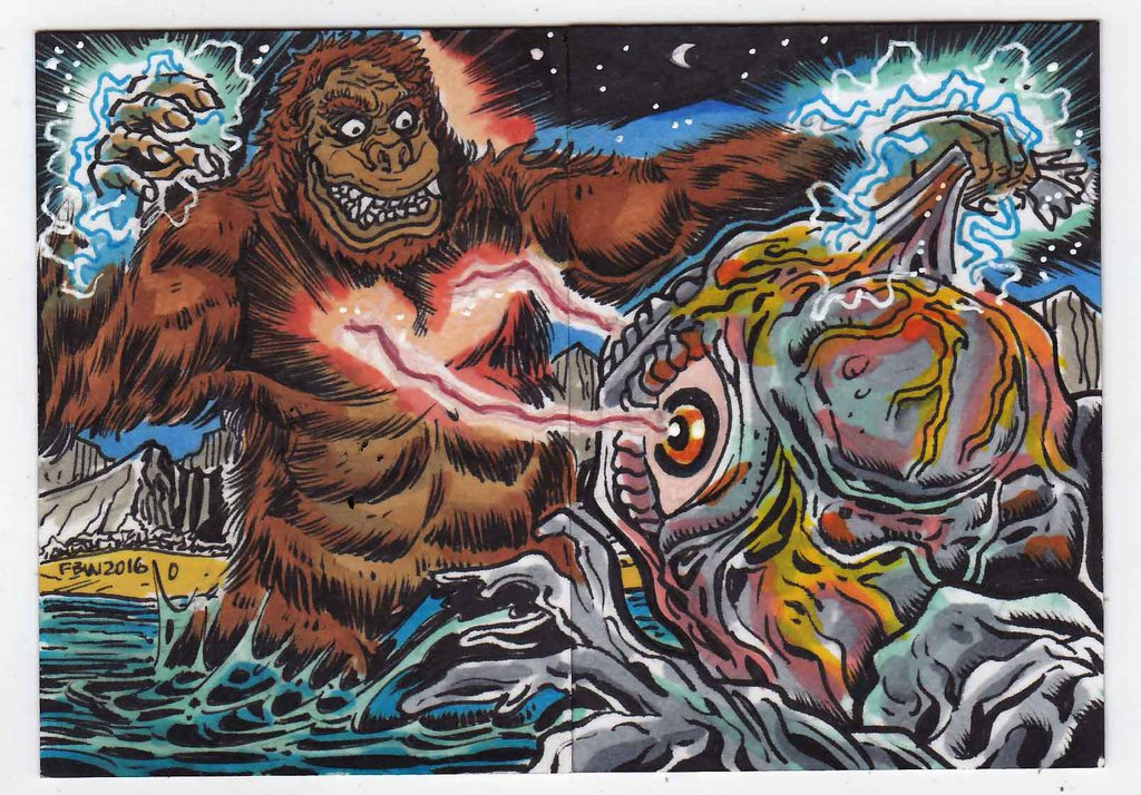 Kong vs Hedorah by Frankie Washington