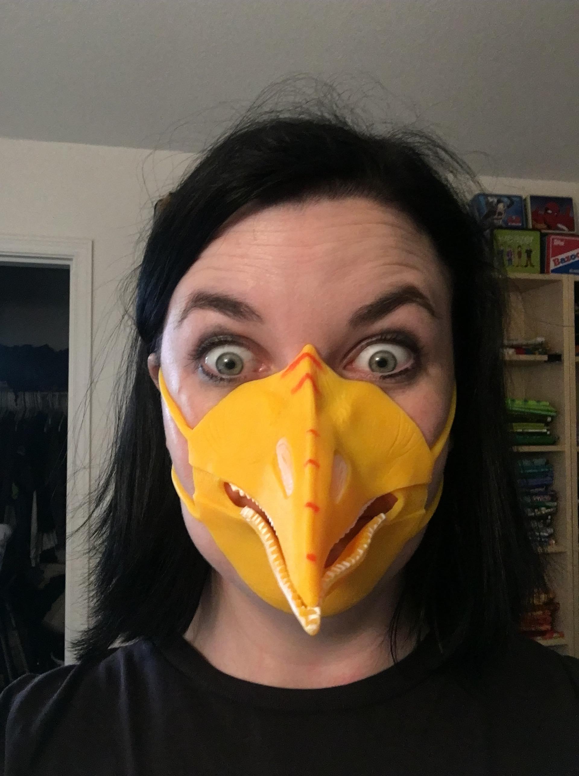 Rachel's budget Rodan costume