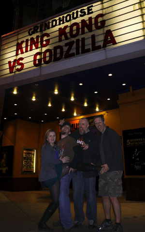 Heather, Justin, Martin & I outside of the Hollywood Theatre after watching King Kong vs. Godzilla!