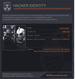 Jeff & Kyle couldn't come up with anything better than their own names for Hacker IDs.