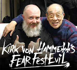 Kyle speaks with Mr. Godzilla himself, Haruo Nakajima and recaps last month's Fear FestEvil with Jeff.