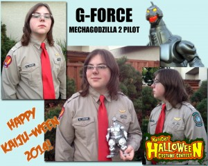 Brendan L as G-Force Mechagodzilla II Pilot