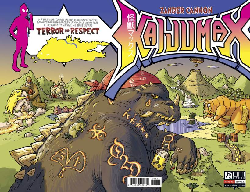 Issue #1 of Kaijumax by Zander Cannon from Oni Press, available on April 8th.