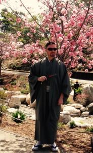 Erik Homenick enjoying the Sakura festival in Japan.