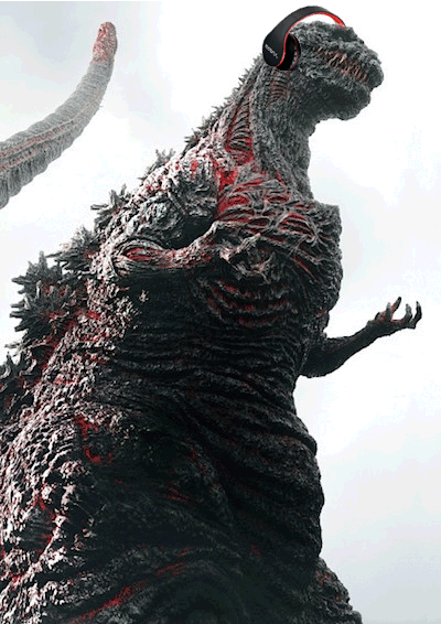 We're imagining Shin-goiji listening to the Kaijucast discuss his most recent incarnation and the news surrounding giant monsters from around the world!