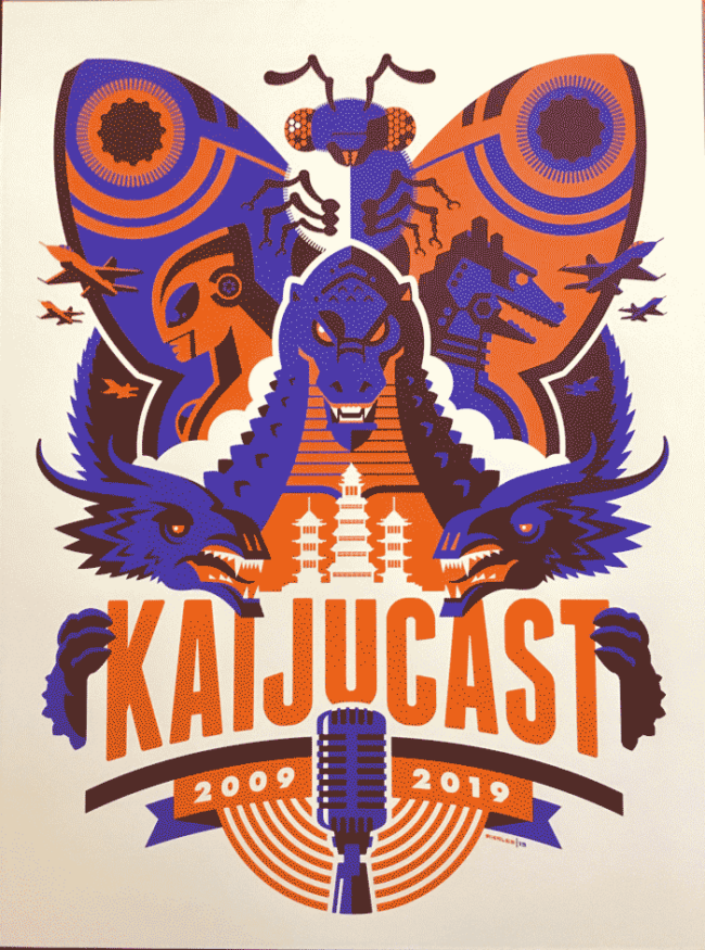Kaijucast X Anniversary by Tom Whalen